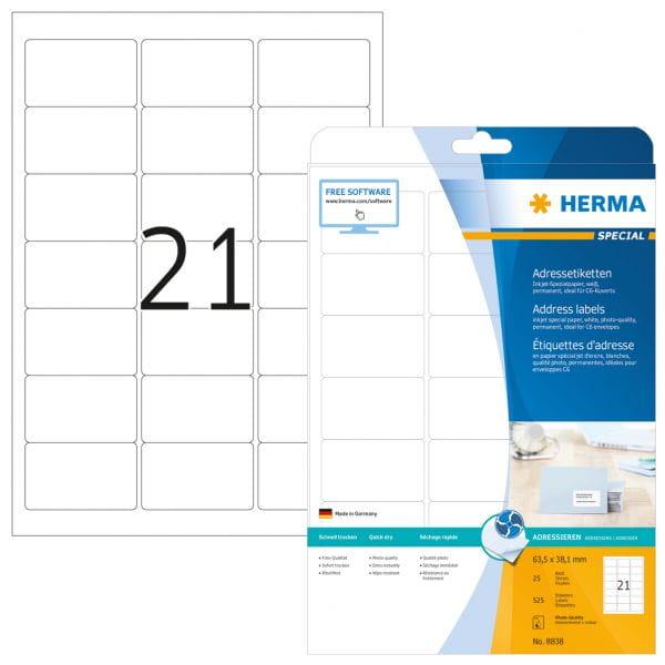 HERMA Papier, Folien, Etiketten 8838 4